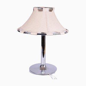 Lampe de Bureau en Chrome avec Abat-Jour en Daim par Anna Ehrner pour Ateljé Lyktan, 1970s