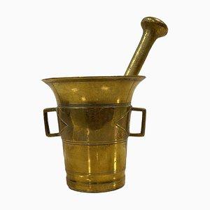 Swedish Brass Mortar from Skultuna, 1940s