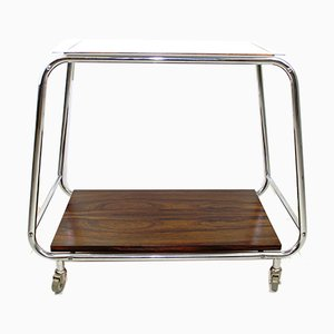 Mid-Century Rosewood Serving Trolley, 1950s