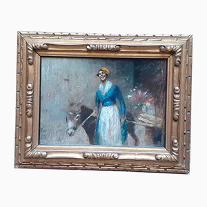 Neapolitan Painting, Oil on Cardboard