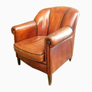 Sheep Leather Club Chair, 1970s