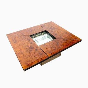 Table Basse en Bois Laqué avec Loupe par Paul Michel, 1970s