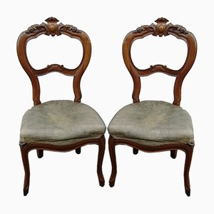 Louis Philippe Style Dining Chairs, 1960s, Set of 2
