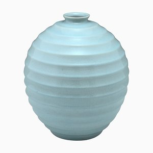 Ceramic Light Blue Vase by Villeroy & Boch, 1930s