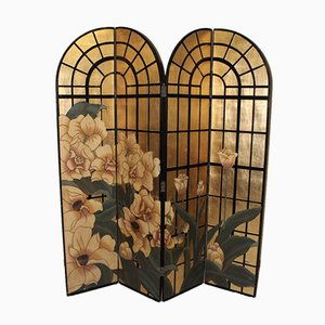 Screen with Flowers on Gold Background, 1970s