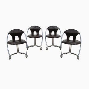 Italian Space Age Dining Chairs, 1970s, Set of 4