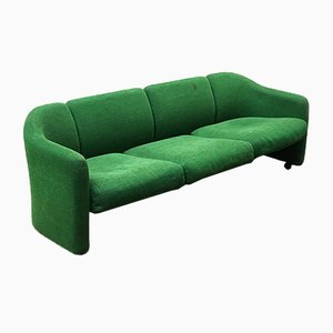 Italian D142 Green Sofa by Eugenio Gerli for Tecno, 1966