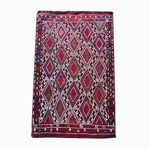Small Turkish Handmade Kilim Carpet / Doormat, 1970s