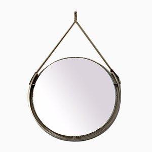 Vintage Spiegel aus Metall & Seil