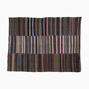 Vintage Turkish Striped Kilim Rug, 1970s
