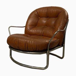 Tubular Chrome & Leather Lounge Chair by Carlo de Carli for Cinova, 1960s