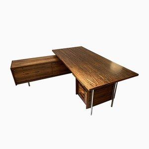 Large Mid-Century Corner Rosewood Desk by Sven Ivar Dysthe for Dokka Møbler