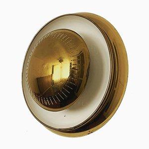 Applique / lampada da soffitto in ottone, Italia, anni '50