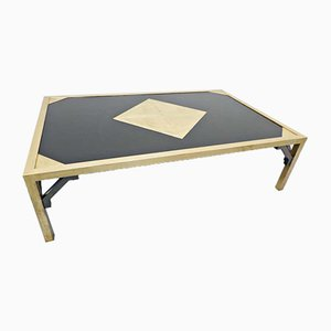 Etched Brass Coffee Table, Belgium, 1980s