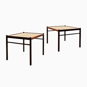 Mahogany Colonial Coffee Tables by Ole Wanscher for Poul Jeppesens Møbelfabrik, 1950s, Set of 2