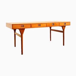 Danish Teak Desk by Nanna Ditzel for Søren Willadsen Møbelfabrik, 1950s