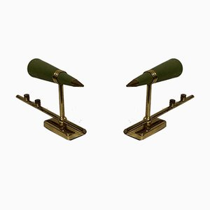 Mid-Century Brass Cone Wall Sconces, Set of 2