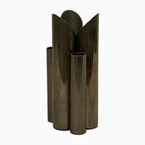 Mid-Century Metall Stifthalter mit 6 Zylindern