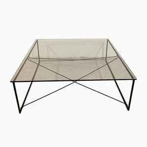 Vintage Crystal & Metal Coffee Table from Pallucco, 1980s