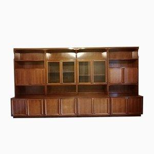 Italian Walnut Bookcase, 1960s