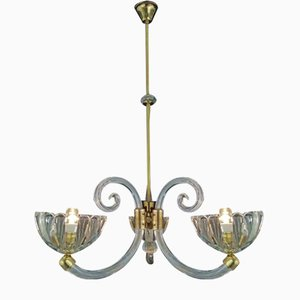 3-Arm Chandelier by Ercole Barovier for Barovier & Toso, 1930s