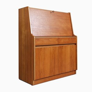 Mid-Century English Teak Secretaire from Remploy, 1960s