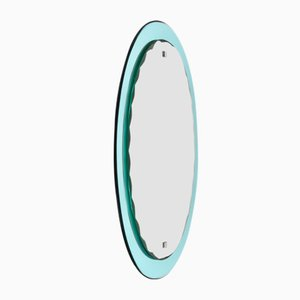 Oval Italian Mirror from Cristal Arte, 1960s