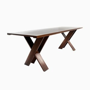 Italian Walnut TL 58 Dining Table by Marco Zanuso for Poggi, 1970s