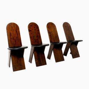 Italienische Esszimmerstühle von Marco Zanuso für Poggi, 1970er, 4er Set