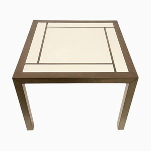 Brass Square Coffee Table in Willy Rizzo Style, 1970s
