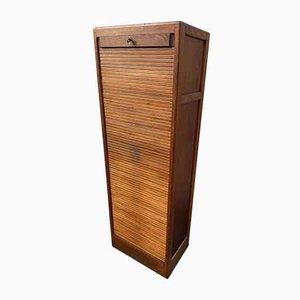 Oak Shutter Blind Cabinet, 1950s