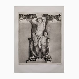 Large Lithograph, 1835, Annibale and Agostino Carracci, Atlas