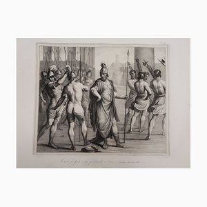Large Original Lithograph, 1835, Annibale and Agostino Carracci on the Founding of Rome