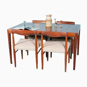 Mid-Century Danish Dining Table & Chairs by H. W. Klein for Bramin, 1960s, Set of 5