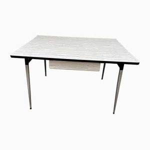 White-Grey Formica Dining Table, 1950s