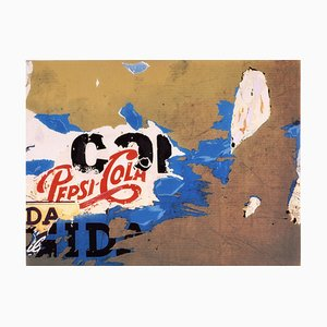 Silkscreen and Collage, Mimmo Rotella, Pepsi