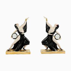 Art Deco Ceramic Bookends by Robj for Robj Paris, 1920s, Set of 2