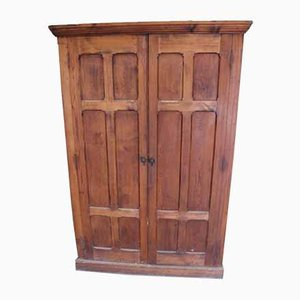 Large Double Pitch Pine Cupboard, 1920s