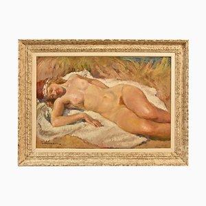 Nackte Frau, Öl auf Leinwand