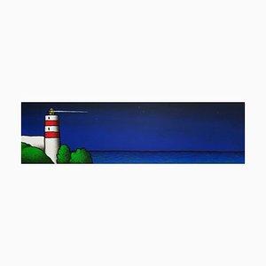 Siebdruckfarbe, Tino Stefanoni, Leuchtturm Nacht 1