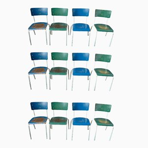 Industrial Chairs, 1970s, Set of 12