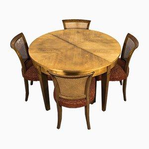 Art Deco Dining Table & Chairs Set by Bruno Paul for VEB Deutsche Werkstätten Hellerau, 1920s