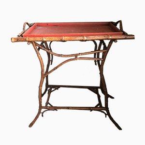 Antiker Beistelltisch aus Bambus oder Tee