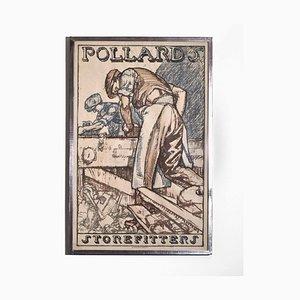Gerahmtes Poster von Sir Frank Brangwyn für Pollards Shopfitters, 1930er