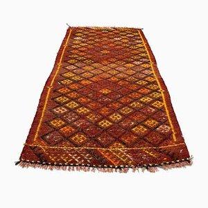 Small Turkish Black & Red Wool Kilim Carpet, 1950s