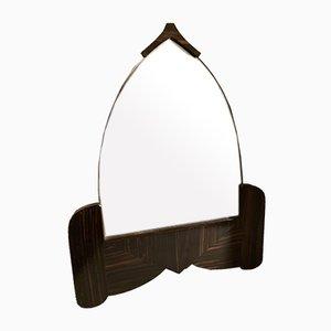 Dutch Art Deco Macassar Amsterdam School Mirror, 1920s