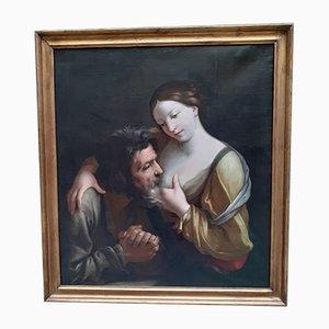 Charity Romana Gemälde Öl auf Leinwand 1700