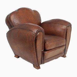 French Art Deco Trilobe Club Chair, 1920s