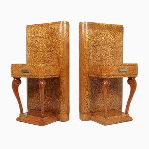 Tables de Chevet Kato en Frêne, 1920s, Set de 2