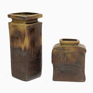 Deutsche Keramik Vasen von Heiner Balzar für Steuler, 1970er, 2er Set
